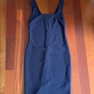 Navy Blue Square Neck Cocktail Dress Sz M